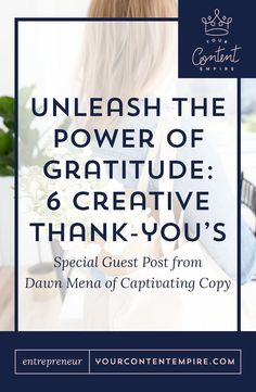 Unleash the power of being grateful to grow your biz and strengthen relationships at Your Content Empire Business Marketing, Email Marketing, Content Marketing, Business Tips, Online Business, Business Writing, Internet Marketing, Digital Marketing, Entrepreneur Inspiration