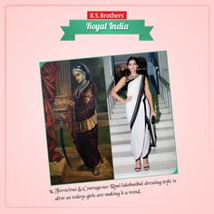 The Great #RaniLakshmibai is one of the most courageous female rulers in India as ever had. Apart from the ferocious ruler, Rani Lakshmibai's dressing style also stood out from the rest. The Queen, who had also to fight against the British along-with Gwalior troops, was dressed in a saree draped around in dhoti pattern.  #Sonam Kapoor has wore  the new style of 'Navuri saree' to express the fashion style.  (Image copyrights belong to their respective owners)