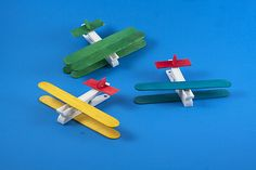 Clothespin Airplanes for preschoolers