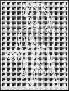 spirited horse crochet afghan pattern