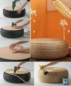zajímavý nápad na využití vyřazených pneu.