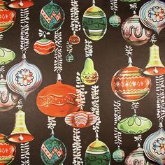 Beautiful Ornaments Vintage Christmas by HolidayKitschklatsch Vintage Christmas Wrapping Paper, Christmas Gift Wrapping, Christmas Paper, Retro Christmas, Christmas Bells, Christmas Images, Christmas Love, Christmas Crafts, Christmas Things