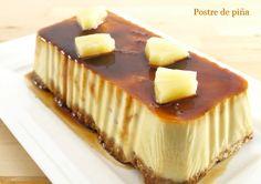 Postre de piña - MisThermorecetas.com Cheesecake, Pudding, Desserts, Food, Image, Gastronomia, Homemade Recipe, Pastries, Breads