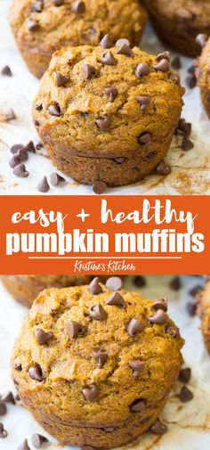 An easy, healthy recipe for pumpkin muffins! These pumpkin muffins are the best!… An easy, healthy recipe for pumpkin muffins! These pumpkin muffins are the best! They are moist and tender and made in just one bowl! Everyone LOVES them! Best Pumpkin Muffins, Pumpkin Muffin Recipes, Pumpkin Chocolate Chip Muffins, Healthy Pumpkin Desserts, Pumpkin Recipes Without Eggs, Pumpkin Recipes Toddler, Clean Eating Pumpkin Muffins, Pumpkin Zucchini Muffins, Healthy Chocolate Muffins