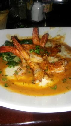 Pappadeaux(Shrimp & Grits) one of my favs! - Pappadeaux(Shrimp & Grits) one of my favs! Shrimp And Grits Recipe New Orleans, Best Shrimp And Grits Recipe, Pappadeaux Recipe, Shrimp Grits, Creole Recipes, Cajun Recipes, Seafood Recipes, Cooking Recipes, Vegans