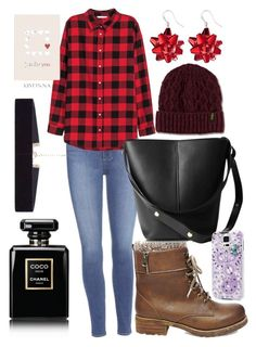 """Autumn-outside walk❤-dtz."" by andreea-cassandra on Polyvore featuring Paige Denim, Steve Madden, Handle, Chanel, Dr. Martens, Samsung, 8 Other Reasons, Kiyonna and Avenue"