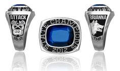 2012 Timpanogos Timberwolves Girls D-II Championship Lacrosse Ring