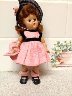 Early 1950's Strung Painted Lash Vogue Ginny Doll