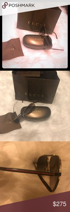 New with box Gucci Sunglasses Only tried on! Bought them for hubby few years ago, he has never worn them!! The box has minor scratches. Gucci Accessories Sunglasses