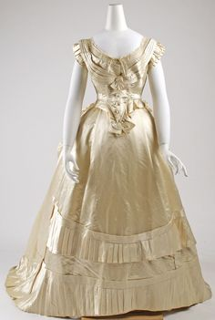 Ball Gown: 1876, French, silk.