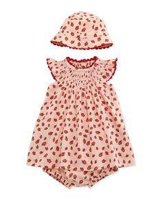 Apple-Print Shift Dress & Baby Hat, Pink by Stella McCartney at Bergdorf Goodman.