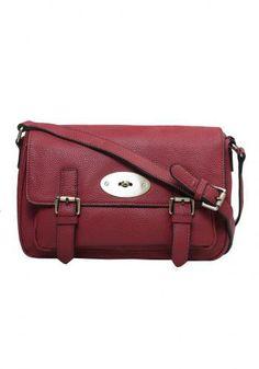 Leather Satchel Purse Red- 'Kira'- Suzieandbags.com