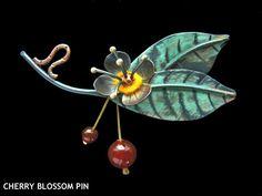 Cherry Blossom Pin - Lisa and Scott Cylinder