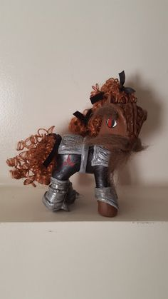 OOAK Custom My Little pony... My Little Klingon.  He is super awesome! If your a startrek fan like me you would soo love this gem. He comes with a bat`leth, I made that too.  He is for Display enjoyment, not for play. Get this one of a kind treasure today