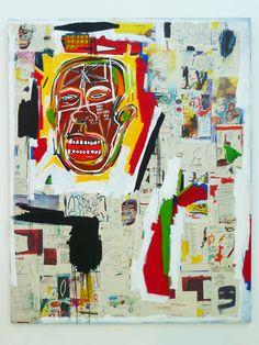 Check out my ART du Jour!! A beautiful Jean-Michel Basquiat painting at the Musée d'Art Contemporain — in Marseille, Provence-Alpes-Cote d'Azur.