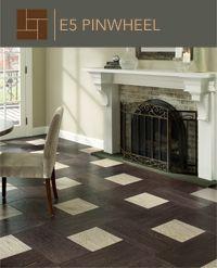 Mannington's Earthly Elements in a Pinwheel wood floor pattern
