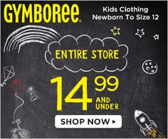 My Alabama Gulf Coast Mommy: Gymboree - Everything $14.99 and Under