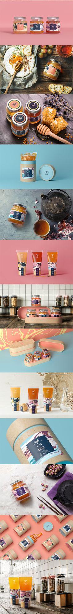 Bottle packaging design - Jola Honey Mix