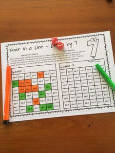 Division Games NO PREP Longest Line by Games 4 Learning- This collection of division games contains 25 Division Games that review a variety of division skills dividing by 2-12.$