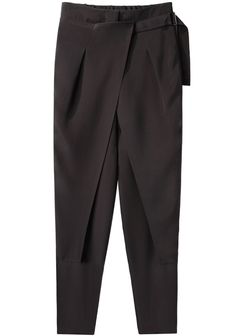 3.1 Phillip Lim / Cross Front Wrap Trouser | La Garçonne Skirt Pants, Trouser Pants, Wrap Pants, Pants For Women, Jackets For Women, Pants Pattern, Office Outfits, 3.1 Phillip Lim, Fashion Details