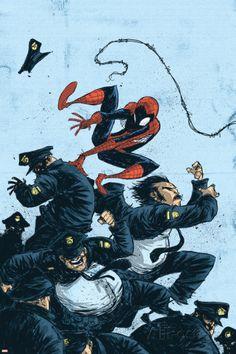 Marvel Adventures Spider-Man No.55 Cover: Spider-Man Pôsters por Skottie Young na AllPosters.com.br