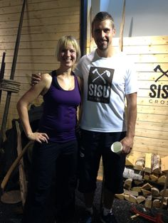Me and javelin thrower Antti Ruuskanen at Sisu training / Ninan verkkareissa - Blogi | Lily.fi