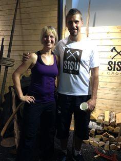 Me and javelin thrower Antti Ruuskanen at Sisu training / Ninan verkkareissa - Blogi | Lily.fi