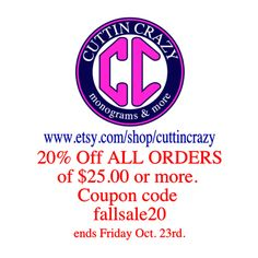 Fall Sale 20% off