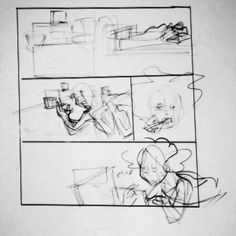 Penciling a webcomic page digitally. #drawingexercise #visualdevelopment #conceptart #comicartist #cartoonist #pencils