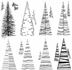 Landscape Architecture Drawing, Architecture Sketchbook, Landscape Elements, Landscape Drawings, Landscape Design, Perspective Drawing Lessons, Tree Sketches, Photoshop Elements, Simple Art