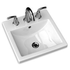 American Standard A0642001020 Studio Carré Self Rimming Bathroom Sink - White