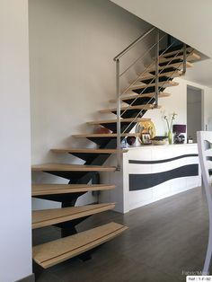 Farmhouse Style Metal Buildings Homes Resources You Will Love. Home Stairs Design, Railing Design, Interior Stairs, House Design, Building Stairs, Metal Building Homes, Building A House, Loft Staircase, House Stairs