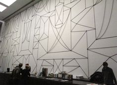 Julian Göthe  A good monumental wall drawing with black bands
