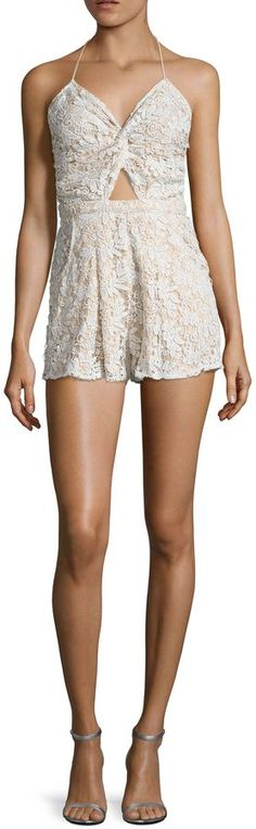 6 Shore Road Women's Skinny Dippers Lace Romper