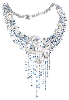 Chow Tai Fook, Nimbus ring, Mother of pearl, moonstones, diamonds and sapphires