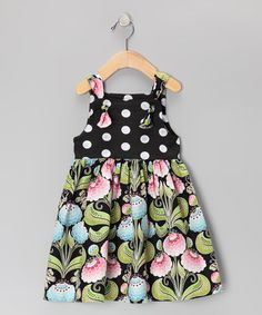 Take a look at this Pink Peony Knot Dress - Toddler & Girls. Love Zulily!