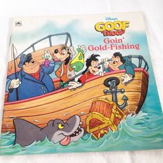 """Disney's Goof Troop """"Goin' Gold-Fishing"""" - Vintage Kids Golden Book 1993 by RetroVintageHeart on Etsy"""