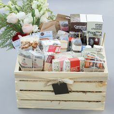 Perfect for office gifts or events! This large crate comes with a variety of our indie, gourmet treats and drinks. Order online now!