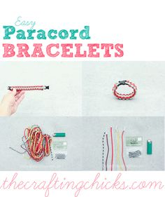 EASY Paracord Bracelet aka Safety Bracelets. Step by step instructions from thecraftingchicks.com