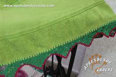 Barrado de Crochê Rositas - Receita de Croche com o Passo a Passo no Link http://www.aprendendocroche.com/receitas-de-croche/video-aula.asp?resid=1509&tree=13