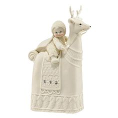 Snowbabies Figurine - The Reigning Reindeer - Department 56 Snowbabies Collection 4043519 #FineGiftsNottingham #SnowbabiesReigningReindeerFigurine #Department56