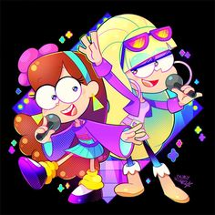 Pacifica and Mabel💖💜 Gravity Falls Season 2, Watch Gravity Falls, Gravity Falls Secrets, Gravity Falls Cosplay, Gravity Falls Bill, Cartoon Fan, Cartoon Shows, Animaniacs Characters, Mabel Pines