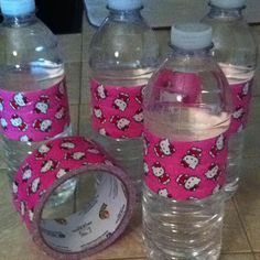 I made these for daughter's hello kitty party. Tape found at target
