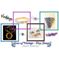 """Love of Vintage - EtsyTeam Daily Picks"" by thejewelseeker-1 on Polyvore"