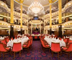 The main dining room on our cruise ship, just beautiful! *Freedom of the Seas