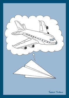 Paper Airplane Dreams by Federico Monzani