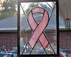 "Stained Glass Art | Stained Glass Breast Cancer Ribbon | Jak's Art Glass - ""GLASS WITH AN ..."