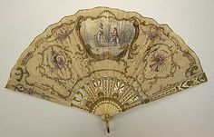 Fan  Tiffany & Co.  (1837–present)  Date: late 19th century Culture: American Medium: silk, ivory, metal Dimensions: Height: 8 3/4 in. (22.2 cm) Credit Line: Gift of Mrs. William Floyd Nichols and Mrs. B. Langdon Tyler, 1975 Accession Number: 1975.248.27