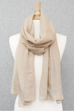 Light Mocha Beige Scarf.