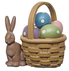 A long ago Easter rabbit and basket.... so sweet.